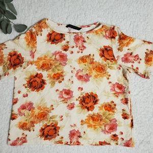 Zara Woman Floral Print Top